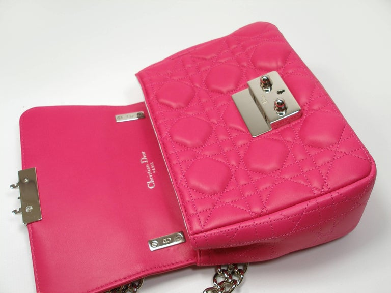 Dior Miss Dior Bag pink cannage Leather Small  Size / BRAND NEW 4
