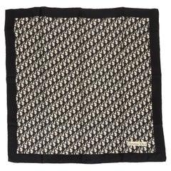Dior Monogram Black Silk Twill 90cm Scarf