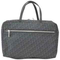 Dior Monogram Oblique Trotter Signature  Satchel 870258 Black Canvas Travel Bag