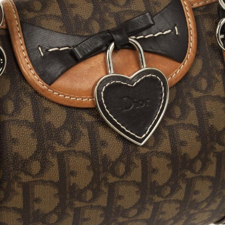 Dior Monogram Trotter Romantique Satchel For Sale 5