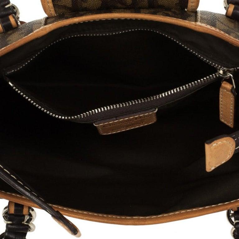 Dior Monogram Trotter Romantique Satchel For Sale 8