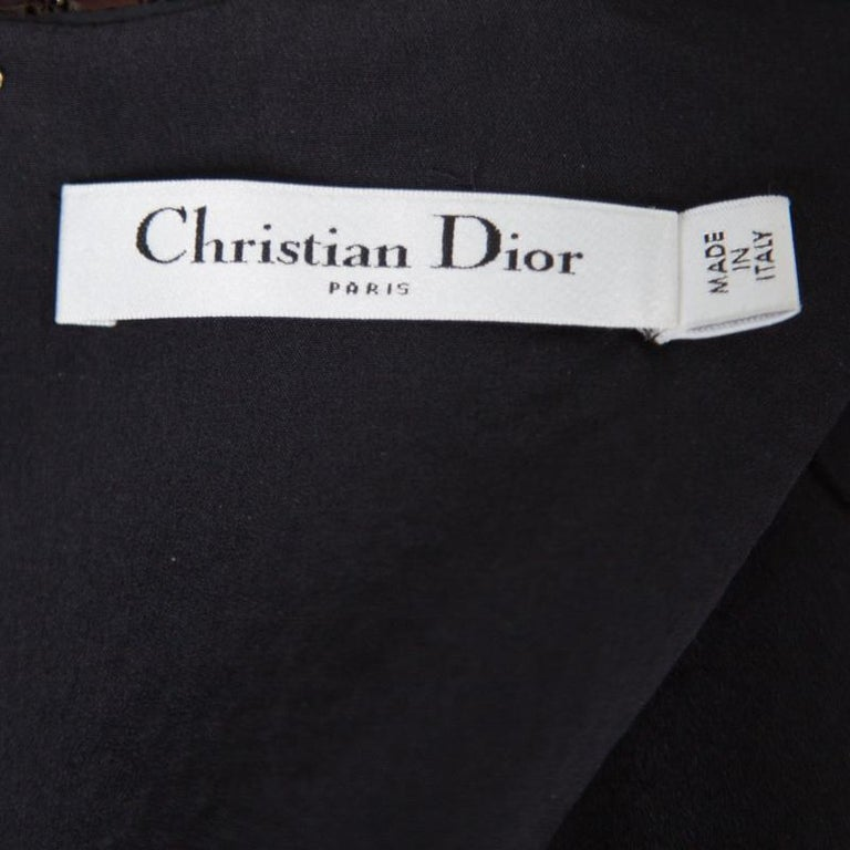 Dior Multicolor Aztec Sequin Embellished Short Sleeve Dress S For Sale 2