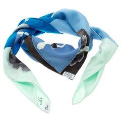Dior Multicolor Lady Silhouette Print Mats Gustafson Square Silk Scarf