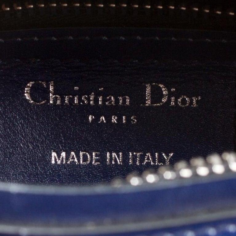 Dior Multicolor Leather Medium Ombre Lady Dior Tote For Sale 1