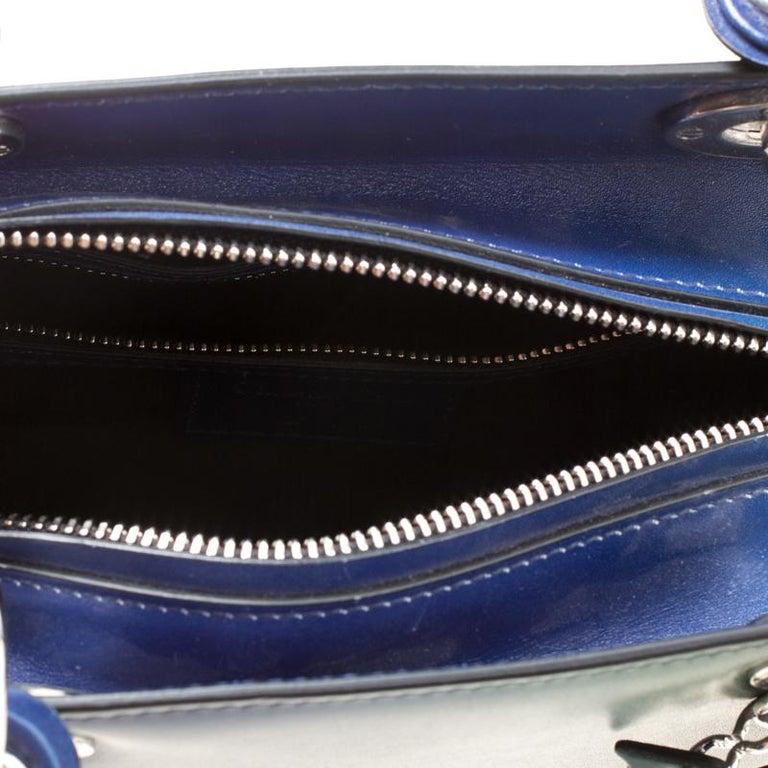 Dior Multicolor Leather Medium Ombre Lady Dior Tote For Sale 2