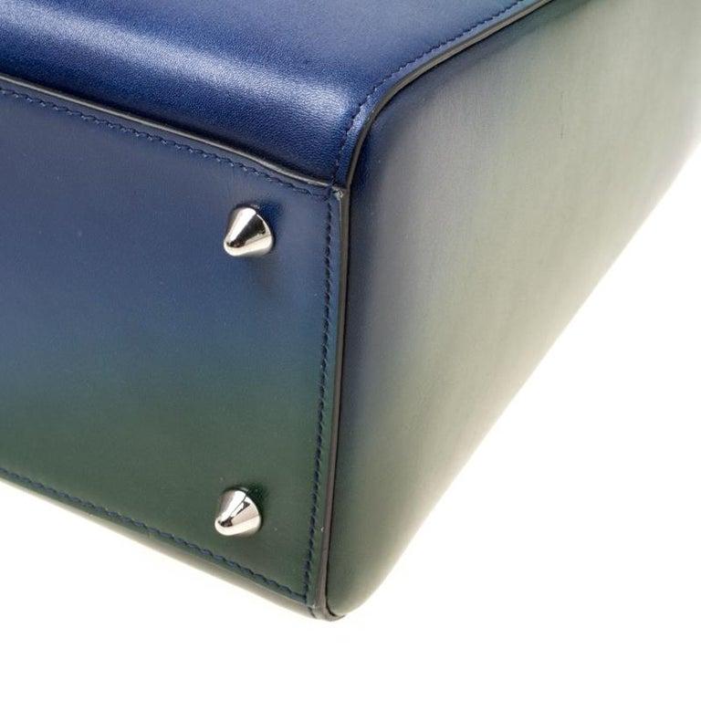 Dior Multicolor Leather Medium Ombre Lady Dior Tote For Sale 3