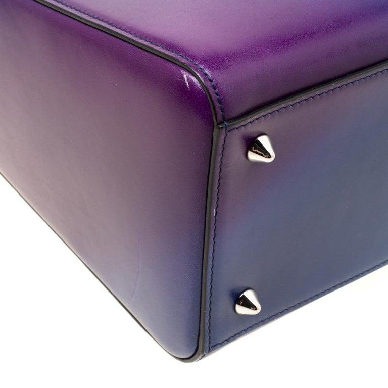 Dior Multicolor Leather Medium Ombre Lady Dior Tote For Sale 4