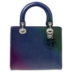 Dior Multicolor Leather Medium Ombre Lady Dior Tote