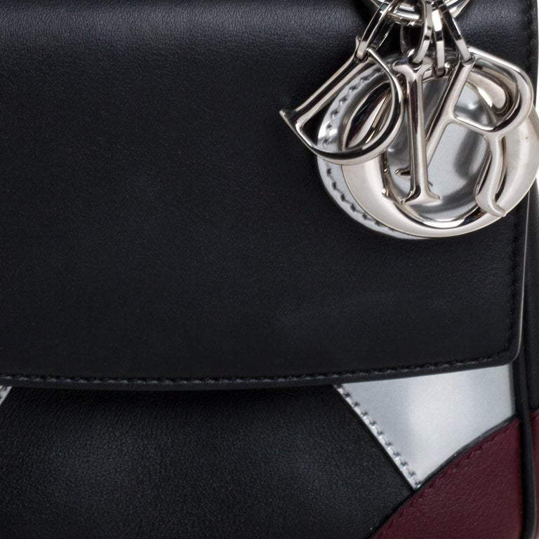 Dior Multicolor Leather Micro Be Dior Flap Bag For Sale 6