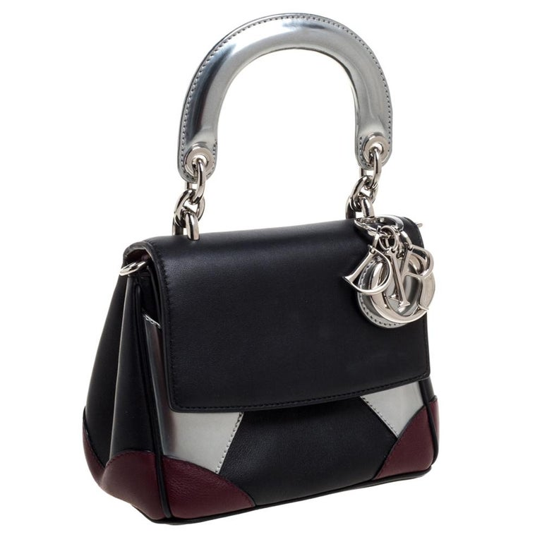 Dior Multicolor Leather Micro Be Dior Flap Bag In Good Condition For Sale In Dubai, Al Qouz 2