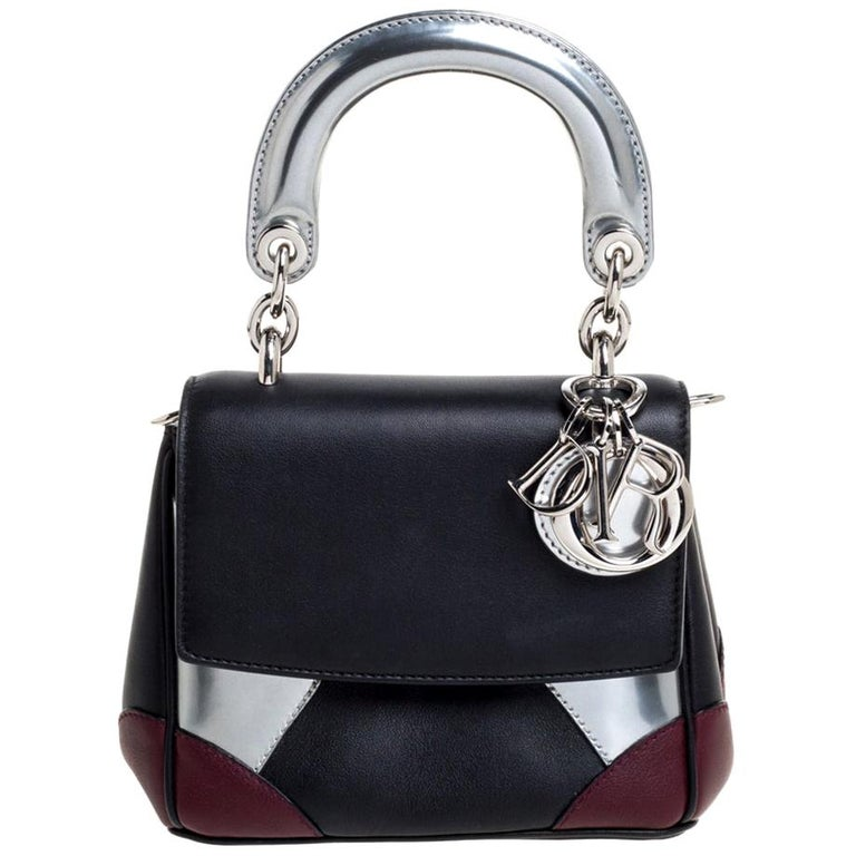 Dior Multicolor Leather Micro Be Dior Flap Bag For Sale