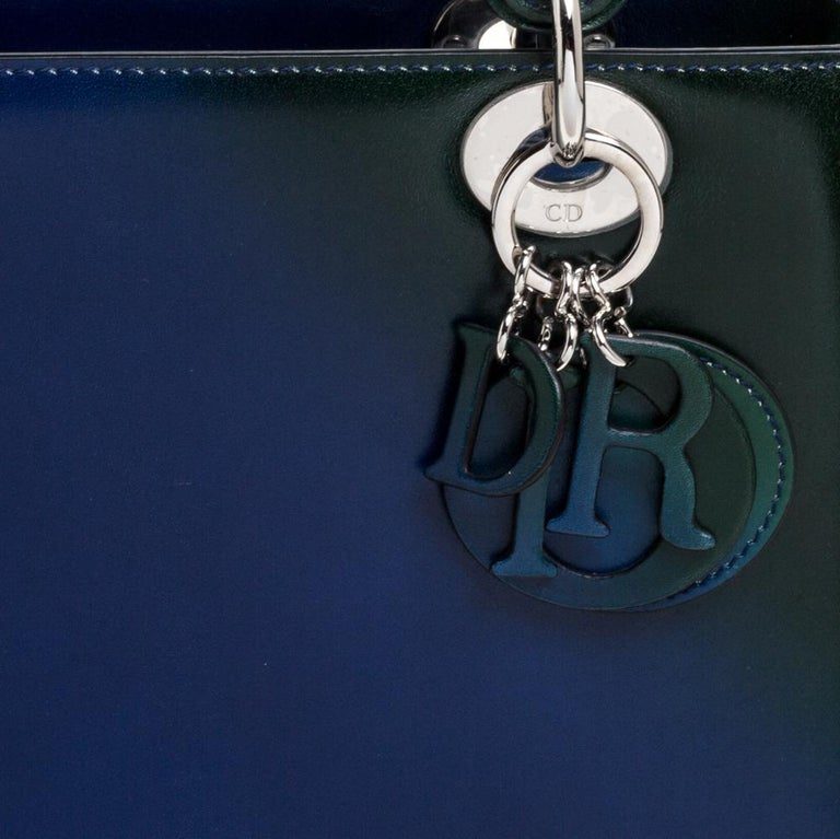 Dior Multicolor Ombre Leather Medium Lady Dior Tote 6