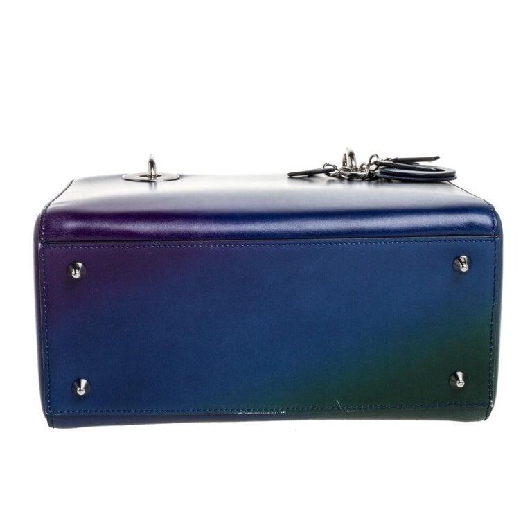 Women's Dior Multicolor Ombre Leather Medium Lady Dior Tote