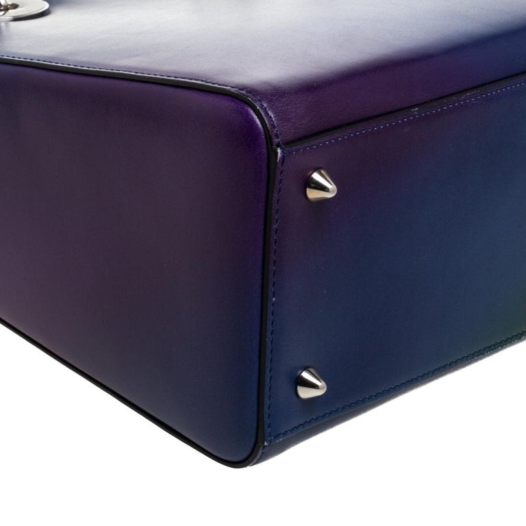 Dior Multicolor Ombre Leather Medium Lady Dior Tote 1