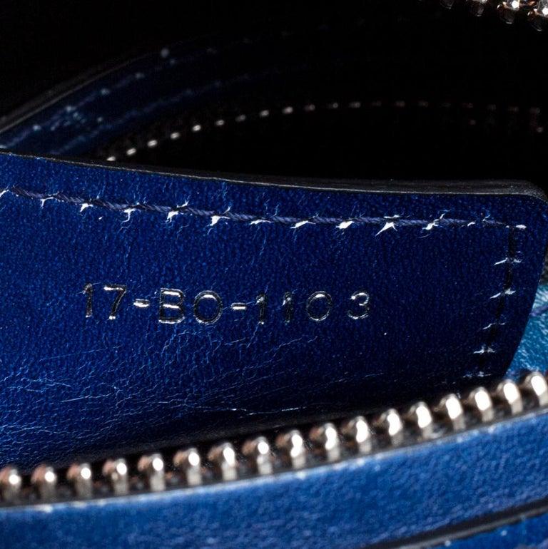 Dior Multicolor Ombre Leather Medium Lady Dior Tote 2
