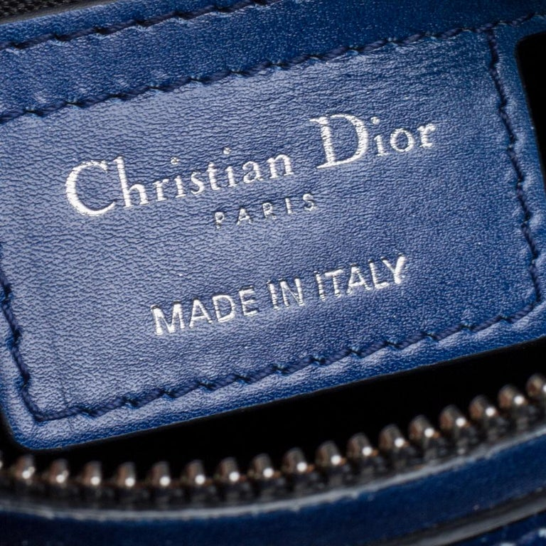 Dior Multicolor Ombre Leather Medium Lady Dior Tote 3