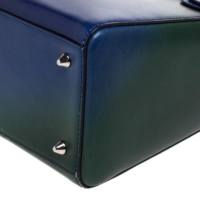 Dior Multicolor Ombre Leather Medium Lady Dior Tote 4