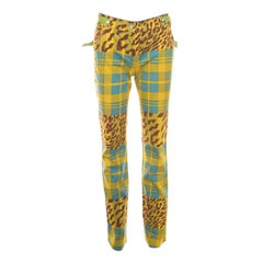 Dior Multicolor Printed Embellished Belt Jeans S