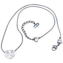 DIOR Necklace Vintage Heart Pendant Y2K