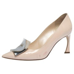 Dior Nude Patent Leather Instinct Pointed Toe Pumps Size 37