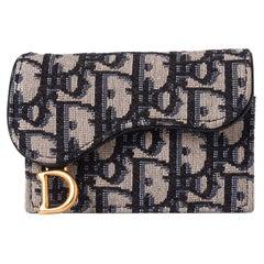 Dior Oblique Saddle Flap Card Holder 2020