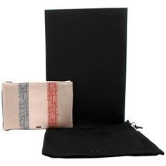 Dior Oblique Stripe Canvas Pouch