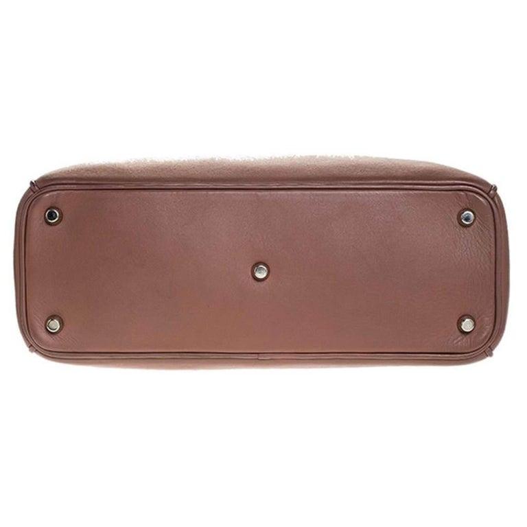 Dior Old Rose Leather Medium Diorissimo Shopper Tote For Sale 1
