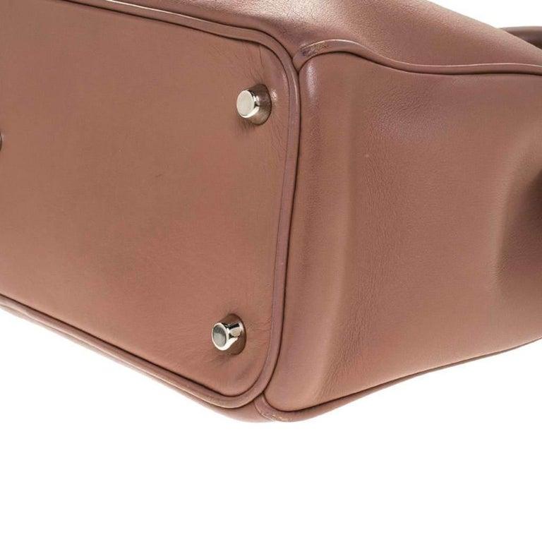 Dior Old Rose Leather Medium Diorissimo Shopper Tote For Sale 2