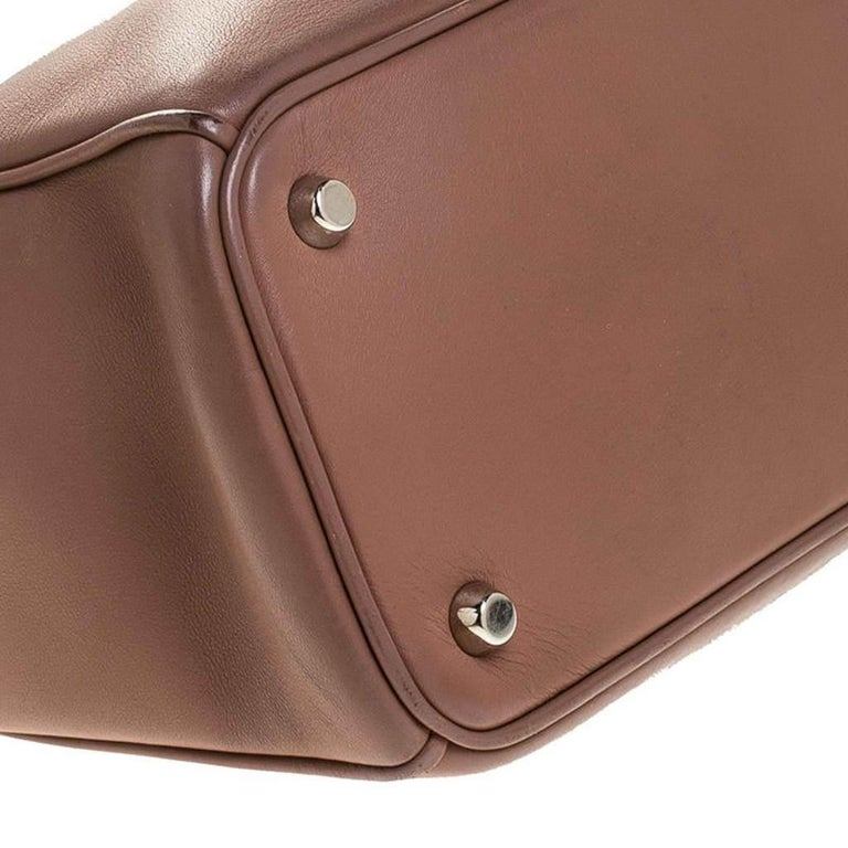 Dior Old Rose Leather Medium Diorissimo Shopper Tote For Sale 3
