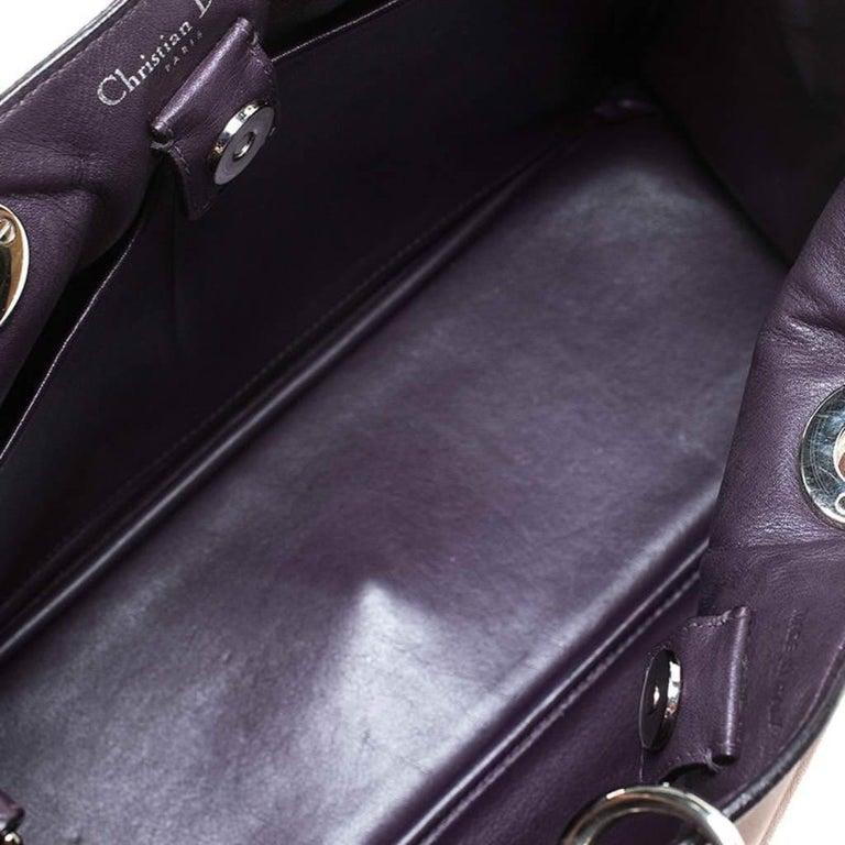 Dior Old Rose Leather Medium Diorissimo Shopper Tote For Sale 5