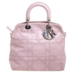 Dior Pink Cannage Quilted Leather Granville Tote