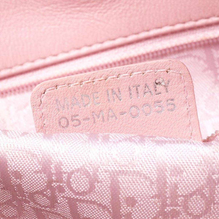 Dior Pink Cannage Quilted Leather Tote Bag For Sale 4