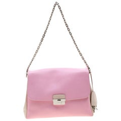 Dior Pink/Cream Leather Diorling Shoulder Bag