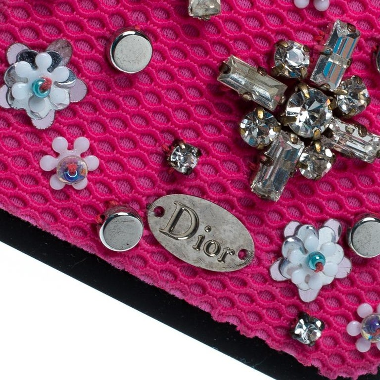 Dior Pink Crystal and Fabric Stardust Embellished IPhone 6 Case For Sale 2