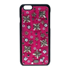 Dior Pink Crystal and Fabric Stardust Embellished IPhone 6 Case