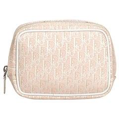 Dior Pink Jacquard Fabric Oblique Pouch France