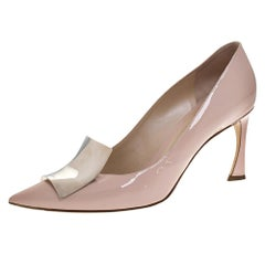 Dior Pink Patent Leather Instinct Pointed Toe Pumps Size 39.5