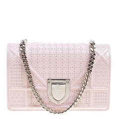 Dior Pink Patent Leather Mirco Diorama Bag