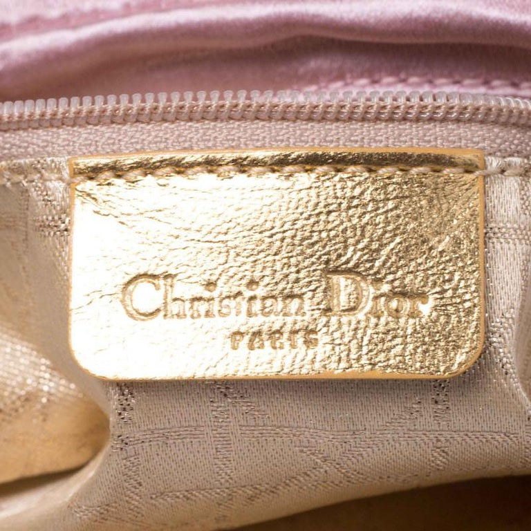 Dior Pink Satin Pochette Bag 5