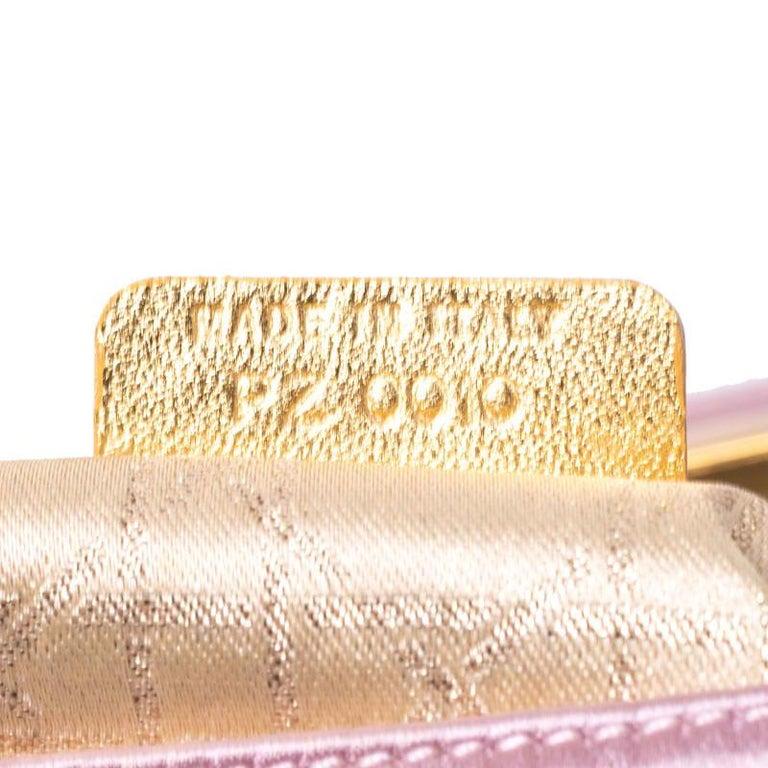 Dior Pink Satin Pochette Bag 6