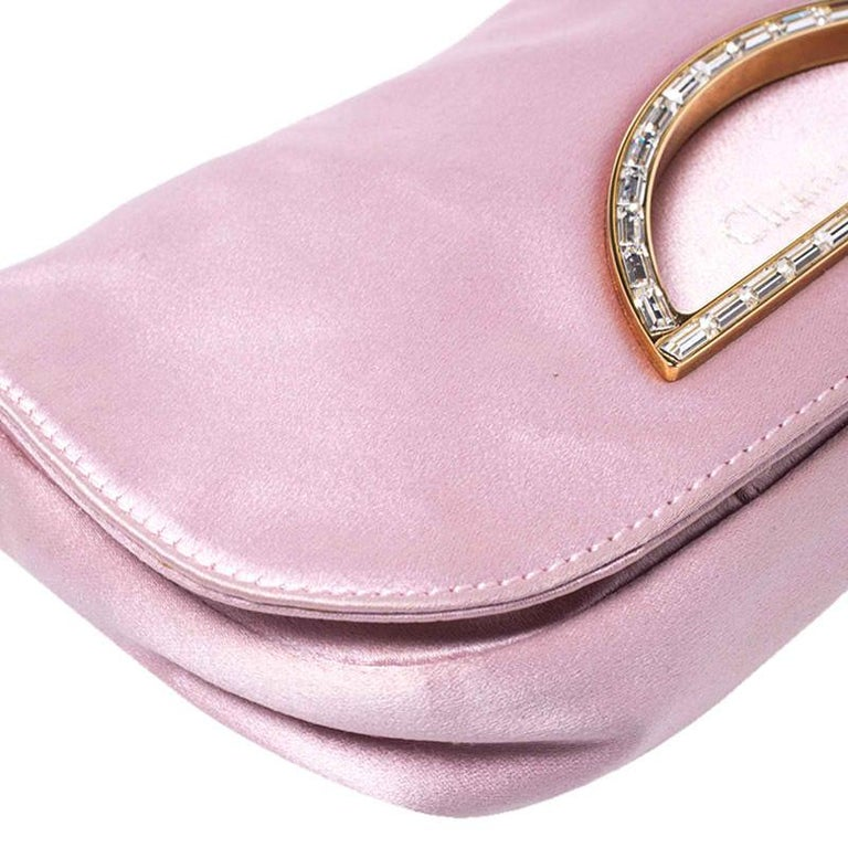 Women's Dior Pink Satin Pochette Bag