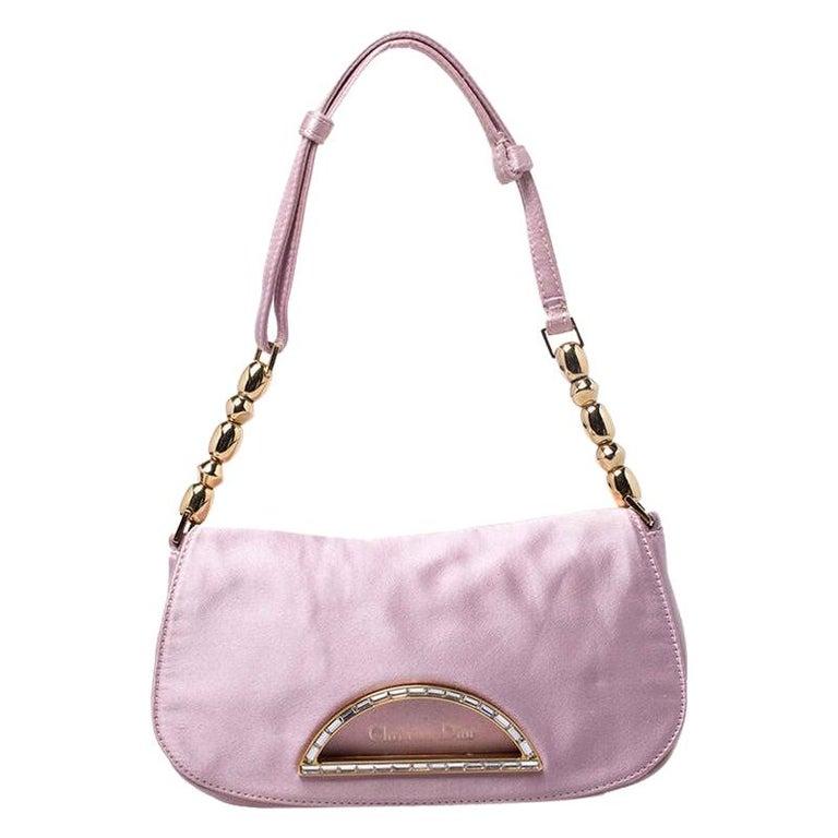 Dior Pink Satin Pochette Bag