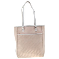 Dior Pink/White Diorissimo Canvas and Leather Tote