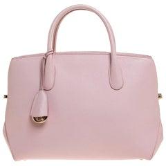 Dior Powder Pink Leather Large Bar Tote