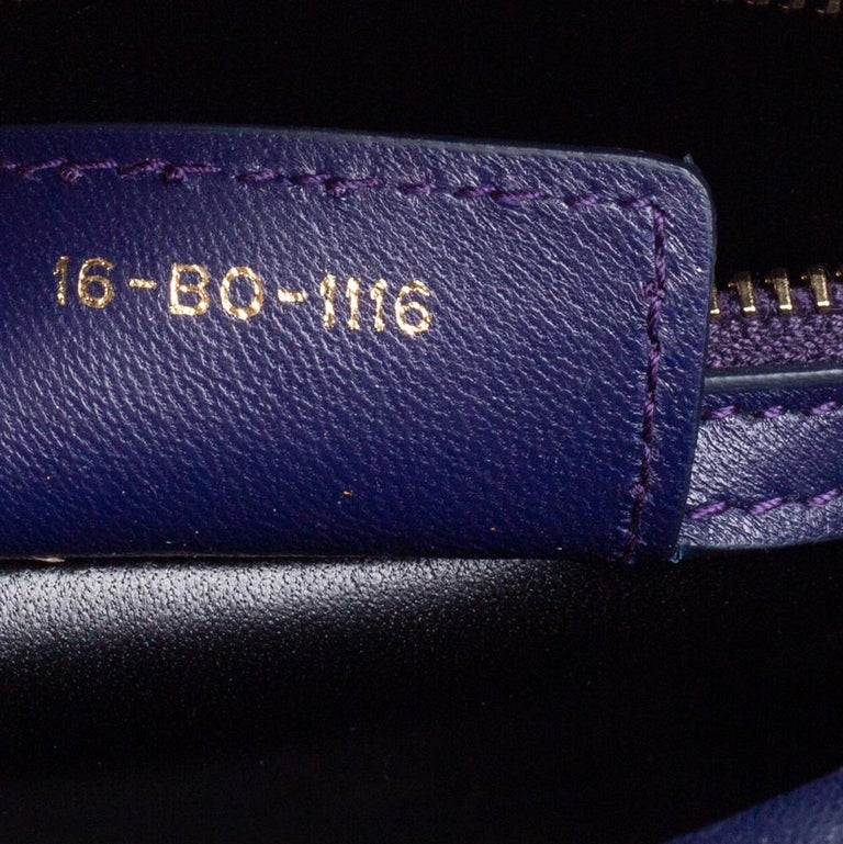 Dior Purple Cannage Leather Medium Lady Dior Tote 3
