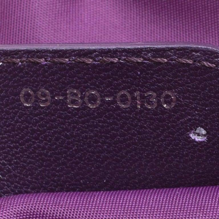 Dior Purple Cannage Nylon Satchel For Sale 3