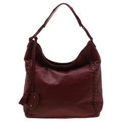 Dior Red Leather Ethnic Hobo