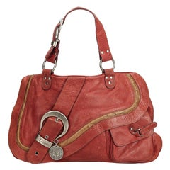 Dior Red  Leather Gaucho Saddle France