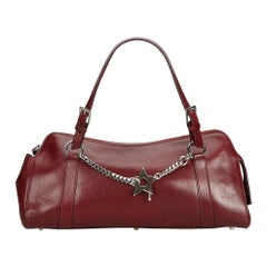 Dior Red  Leather Handbag France w/ This item does not come with inclusions.