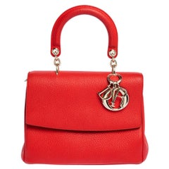 Dior Red Leather Small Be Dior Flap Bag